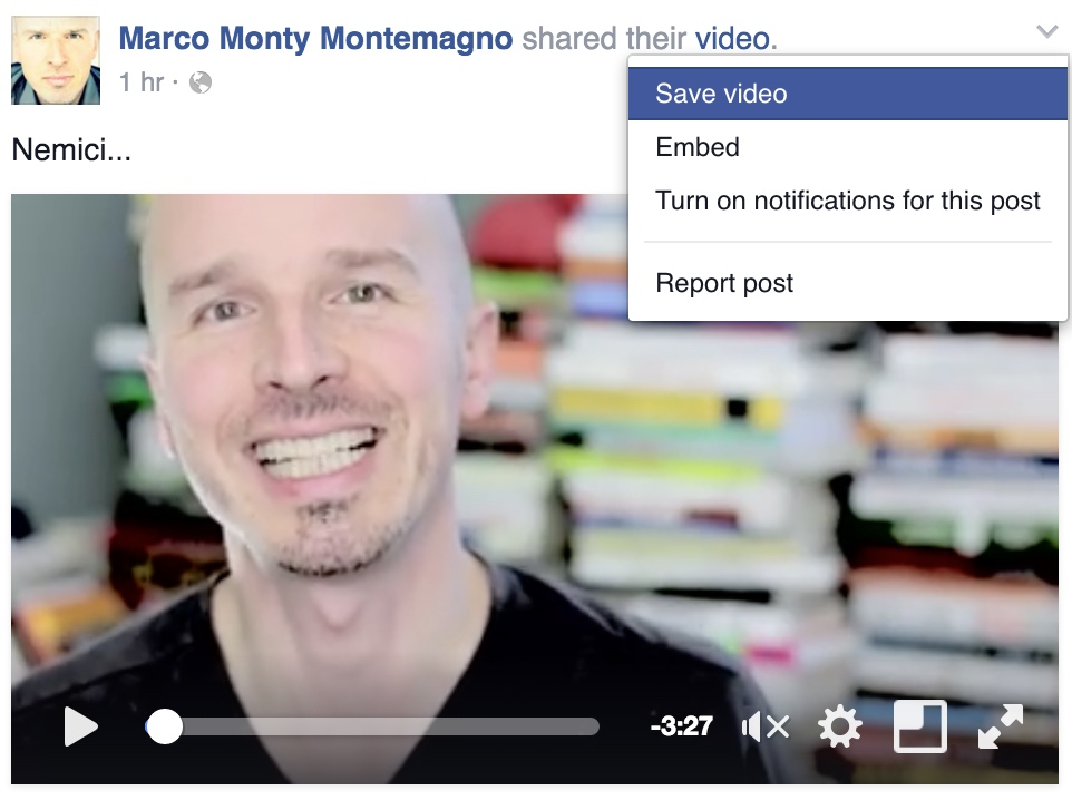 Facebook Video embed