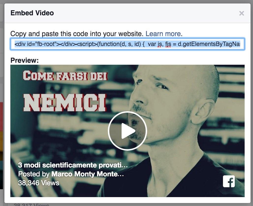 Facebook Video tag
