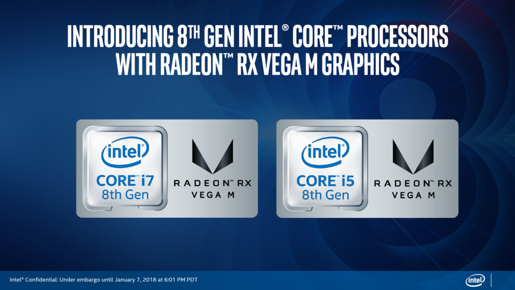 Intel core e AMD Radeon RX Vega M Graphics